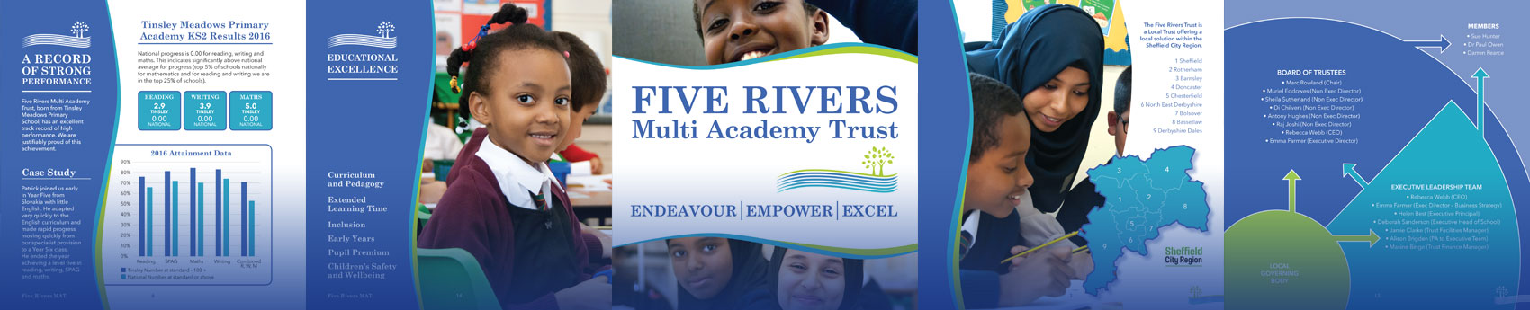 Pages from the Five Rivers Multi Academy Trust prospectus